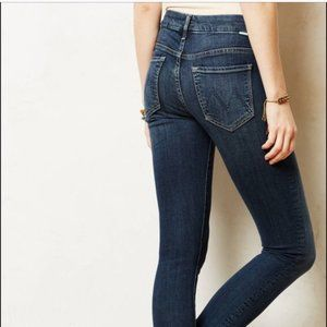 Mother Denim Jeans Looker Crop Here Kitty Kitty 25